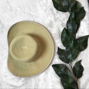 Panama Jack Paper/Straw Wide Brim Asymmetrical Hat for sale